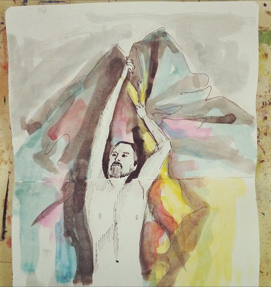 peter quilt watercolour