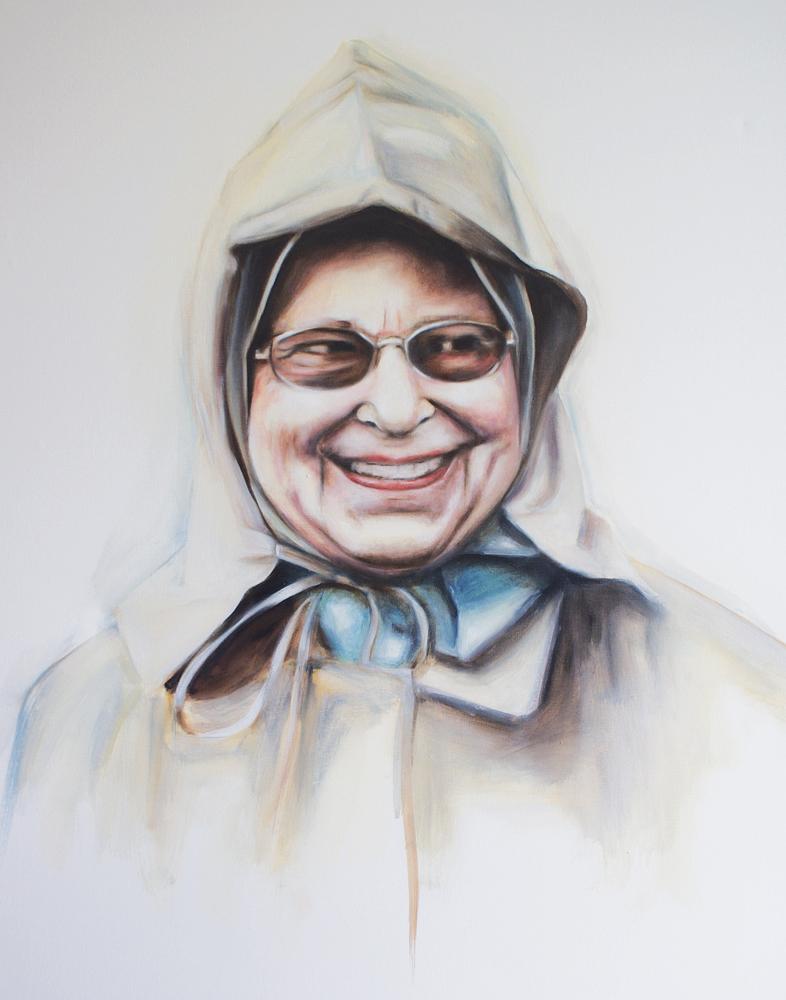 Queen in a raincoat