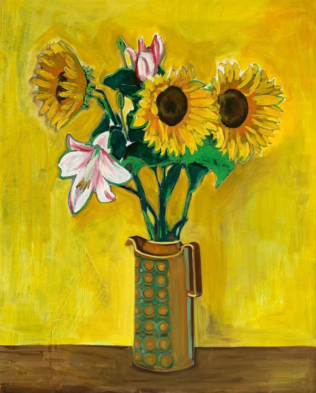 Still life of sunflowers